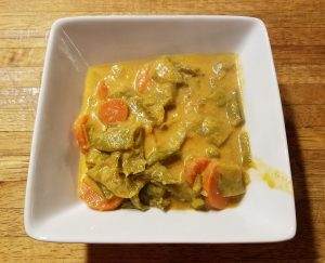 pea and carrot curry