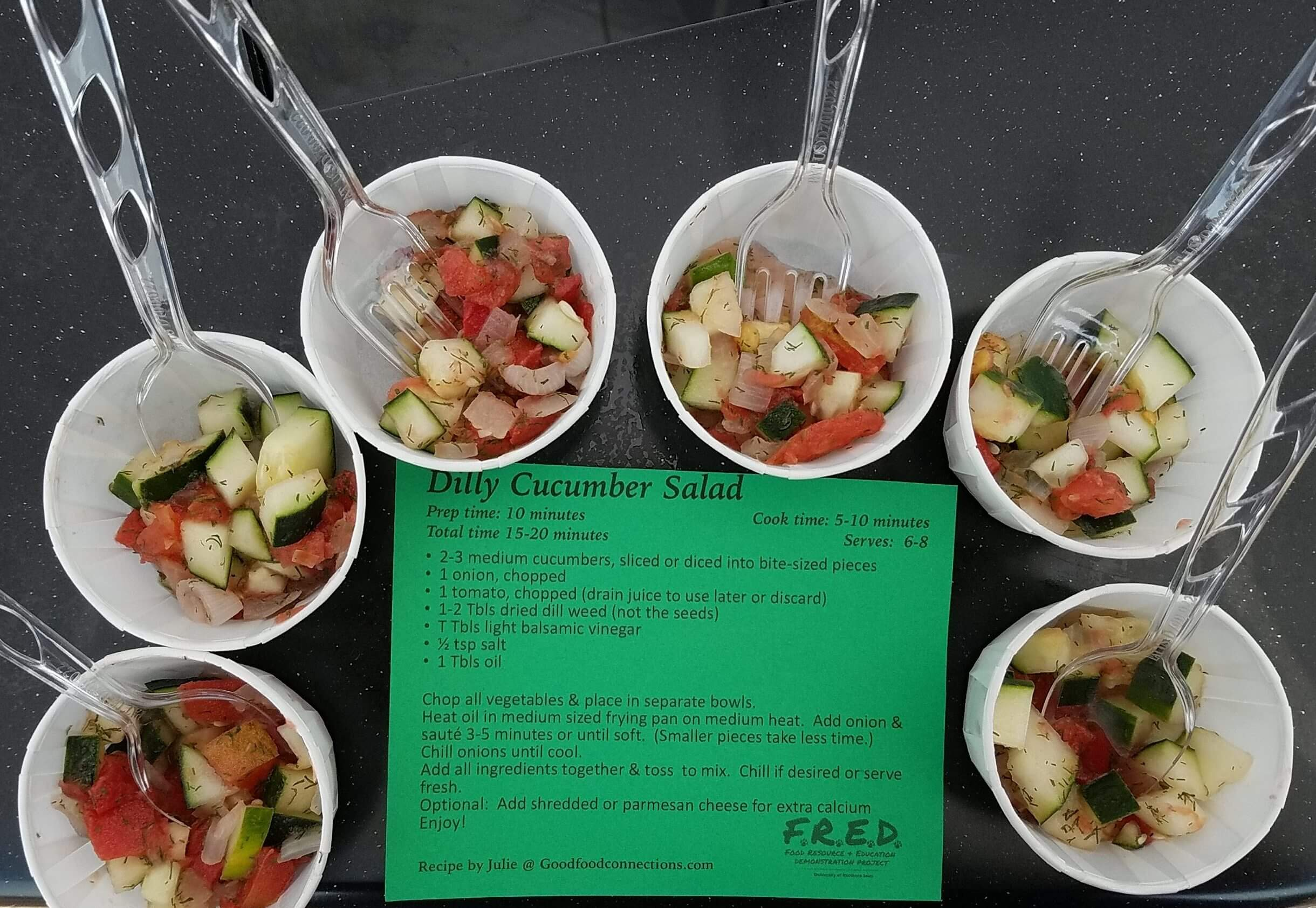 samples of Dilly Cucumber Salad