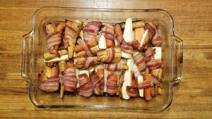 Bacon-wrapped Carrots and Parsnips